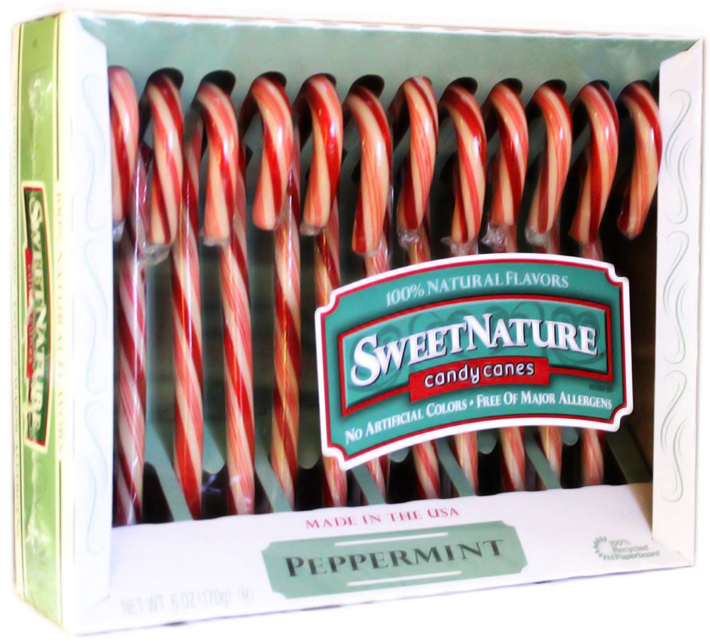 Sweet Nature Peppermint Candy Canes use flavors from natural food ...