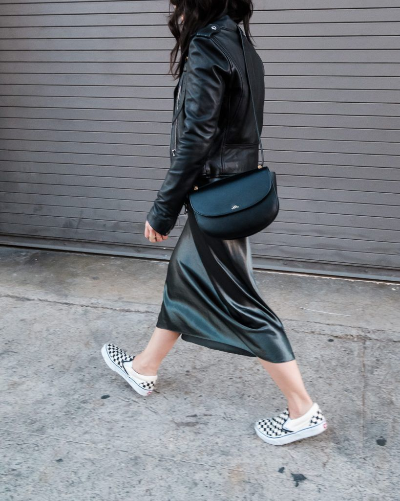 c5d34bfe2c7c Holiday Outfit Idea: Vince Silk Slip Dress | Lil black dress ...