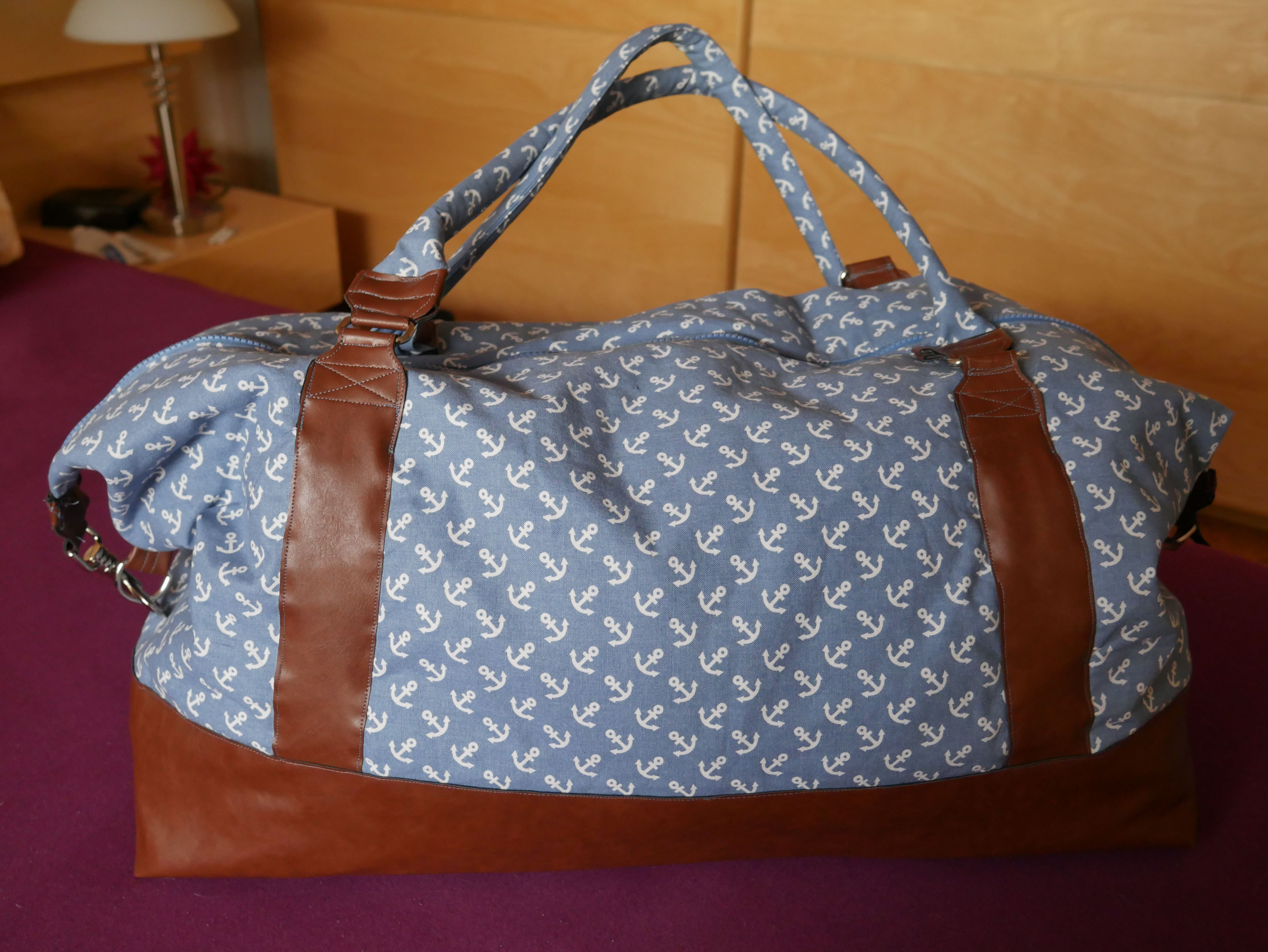 Maritimer Weekender: Der Zweite | Nähen, Taschen nähen und Reisetaschen