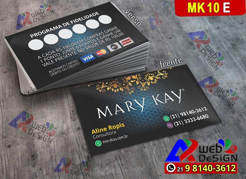 Cartao Visita Mary Kay Envio Todo Brasil Imprimir Cartao De