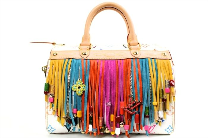Authentic Louis Vuitton Multicolore Fringe Speedy 25 Bag 1 items on MALLERIES