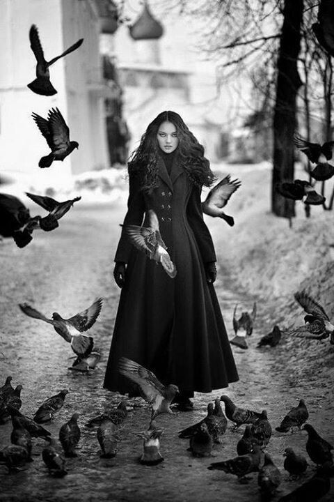 Through the ravens, Isadora walks through, sending them all scattering. The men look up, suddenly terrified as they watched their nightmares dance before their eyes.