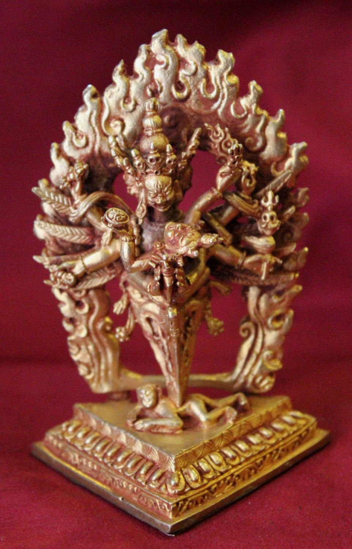 Phurba Shakti Full Gold Statue Handmade in Nepal by ShakyaHandicraft on Etsy