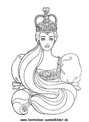 Ausmalbild Prinzessin Rapunzel Coloring Pages Princess Coloring Pages Barbie Coloring