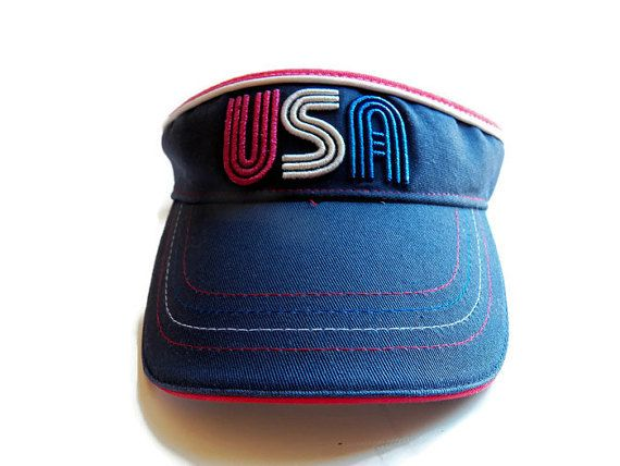 Vintage USA Patriotic Visor 8d50a56e01be