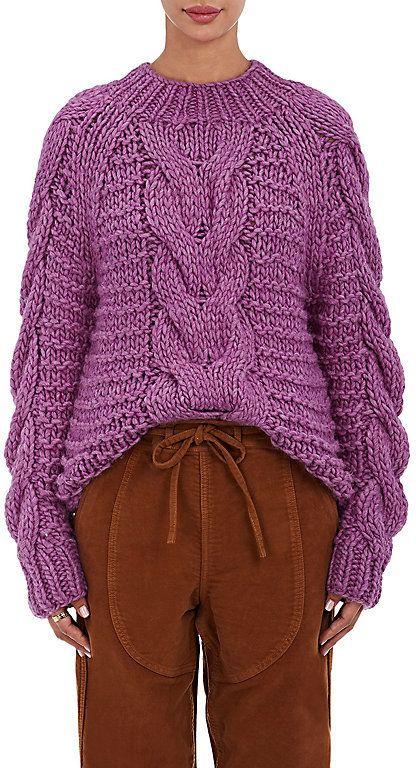 fa36244ed5c Ulla Johnson Women's Francisca Baby Alpaca Sweater-PURPLE, PINK ...