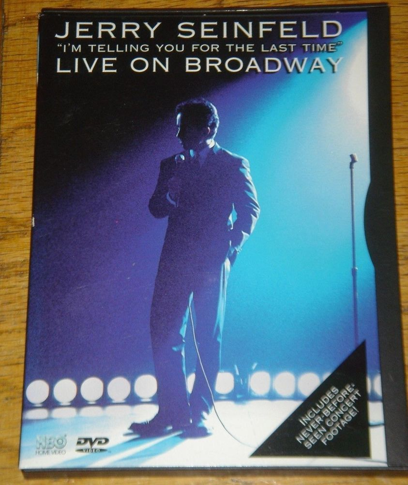 Jerry Seinfeld I'm Telling You For the Last Time Live on Broadway Comedian DVD
