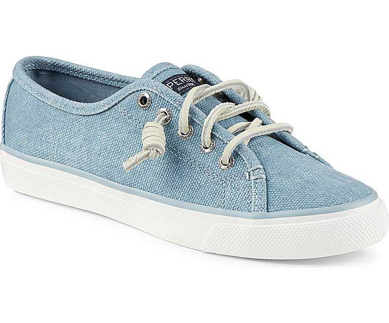 Sperry Top-Sider Womens Seacoast Wax Sneaker in Blue
