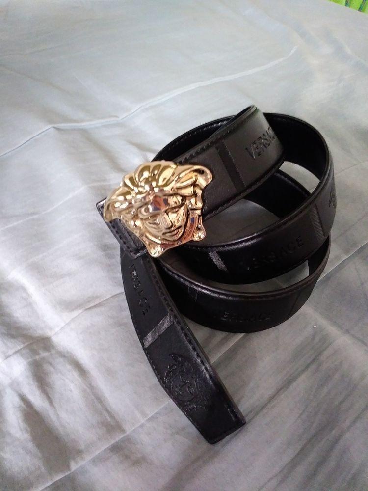Black Versace Belt W Gold Medusa Buckle Mens Size 32 34 Fashion Clothing Shoes Accessories Mensaccessories Belts Ebay Link