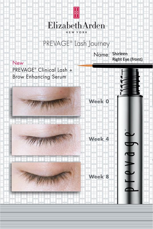 6fd3f04f16a 8-week results on left eye upon using new Elizabeth Arden Prevage Clinical  Lash +