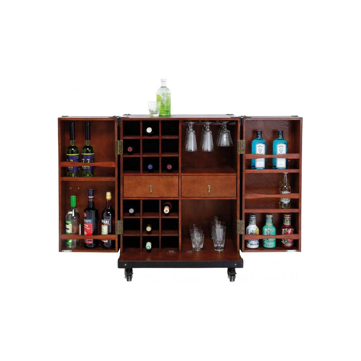 Bar Coffre Bas Colonial Croco Coffre Bar Kare Design Meuble Bar
