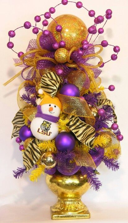 LSU Tabletop Tree... Would be great for my daughters room!