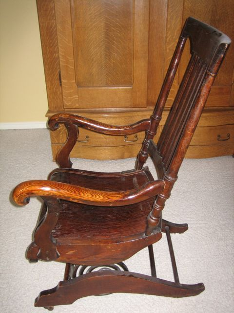 Image detail for -Collectibles-General (Antiques): Rocking Chair with Wood  Coil - Image Detail For -Collectibles-General (Antiques): Rocking Chair