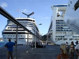docked, unloaded and waiting to go somewhere