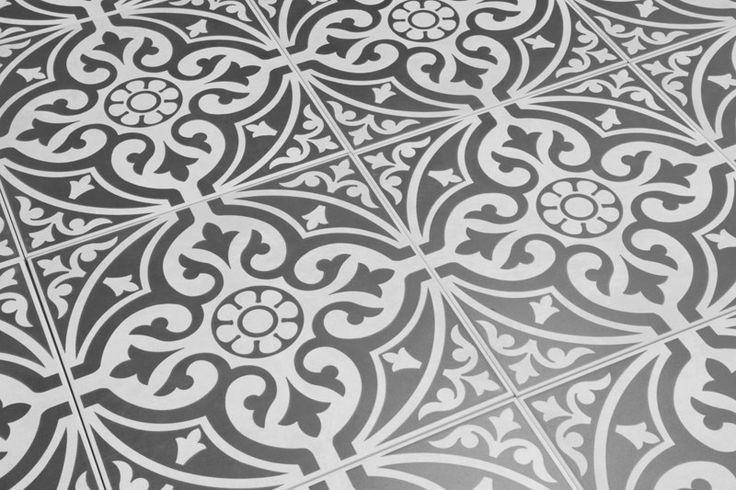 Devon Stone Grey Feature Floor Tile 33x33cm Devon Stone Vintage Patterned Tiles Floor Tile Ideas In 2019 Bathroom Floor Tiles Grey Floor Tiles Bathroom Flooring