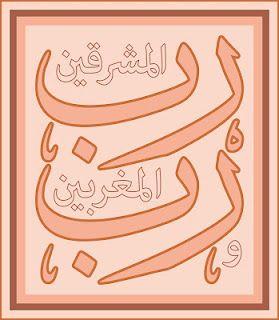 Arabic Calligraphy: Rabbul Mashreqaine wa Rabbul Maghrebain (رب المشرقين ورب المغربين) Sura Rahman : 17