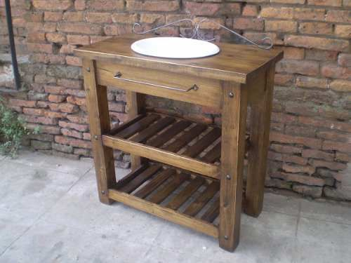 Vanitory Rustico For The Home Pinterest Rusticas