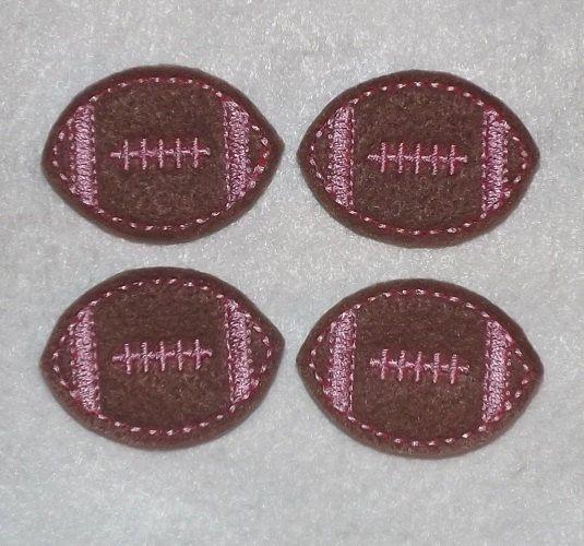 Machine Embroidered Hand made 4 Felt Football by HeartFeltCreation, $3.40