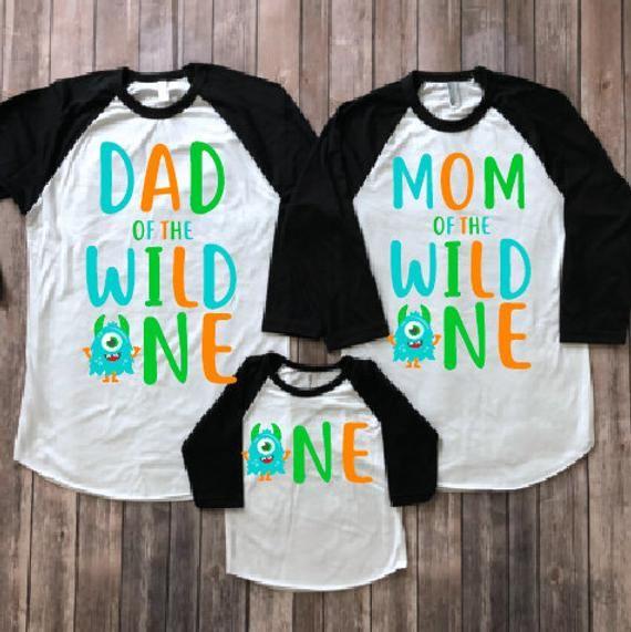 Monster birthday shirt, monster birthday party, 1st birthday shirt, first birthday shirt, mom of birthday, dad of birthday , matching family
