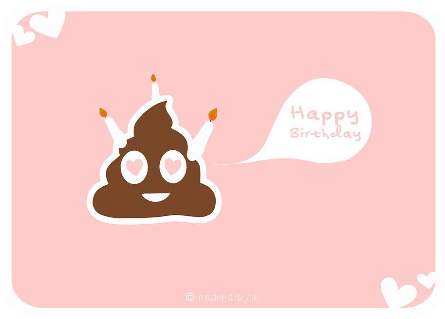 Poo Smiley Birthday Card by naaknaak #birthday #card #naaknaak #poosmiley #smiley #poo #happybirthday #poop