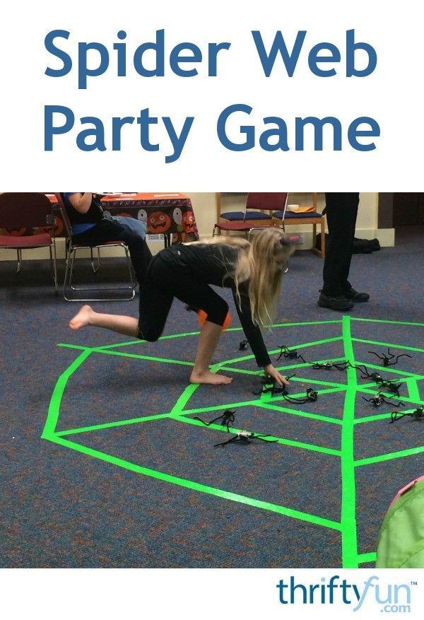 Spider Web Game #halloweenactivities