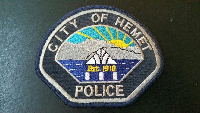 Hemet Police Patch Riverside County California Current 2010