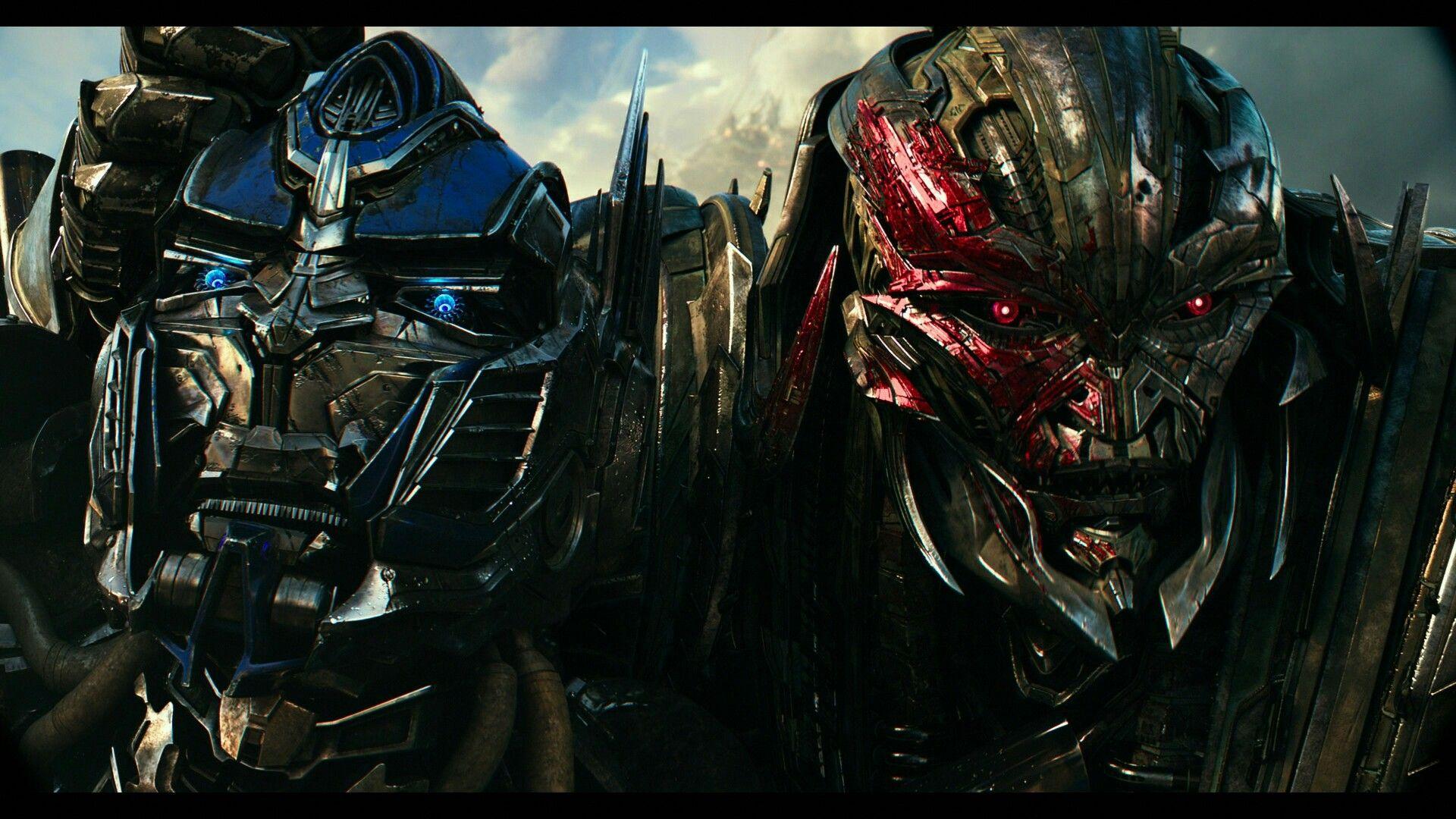 Optimus Prime and Megatron high quality 4k screenshot the