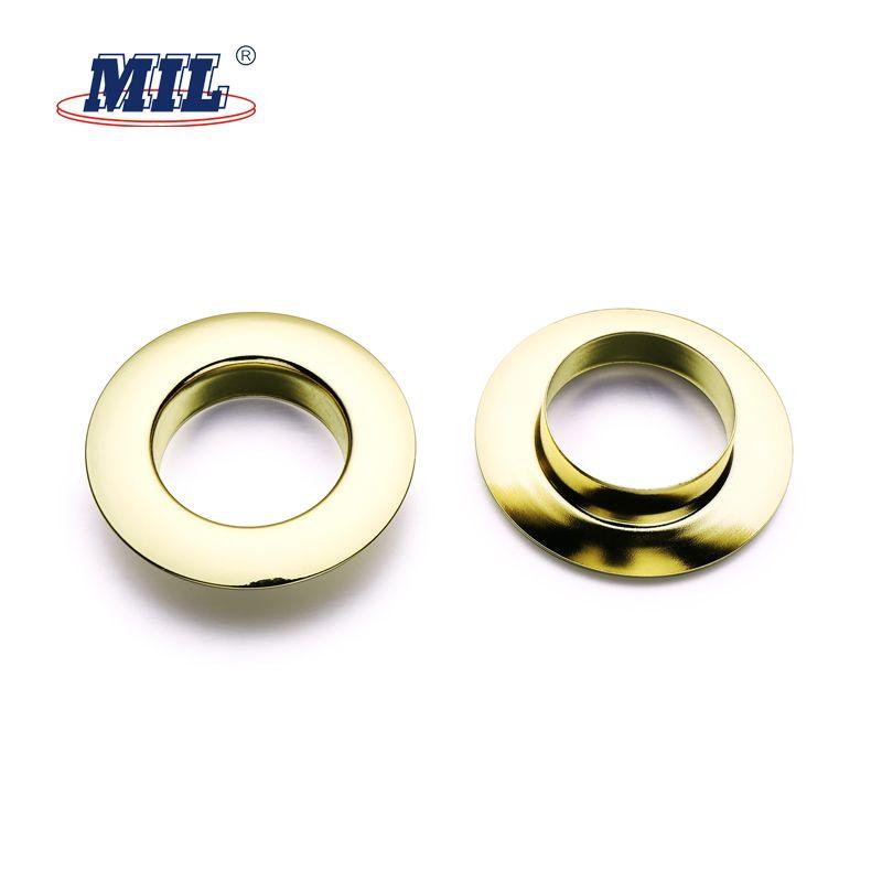 Custom Top Grade Round Shiny Brass Curtain Tape Metal Grommets