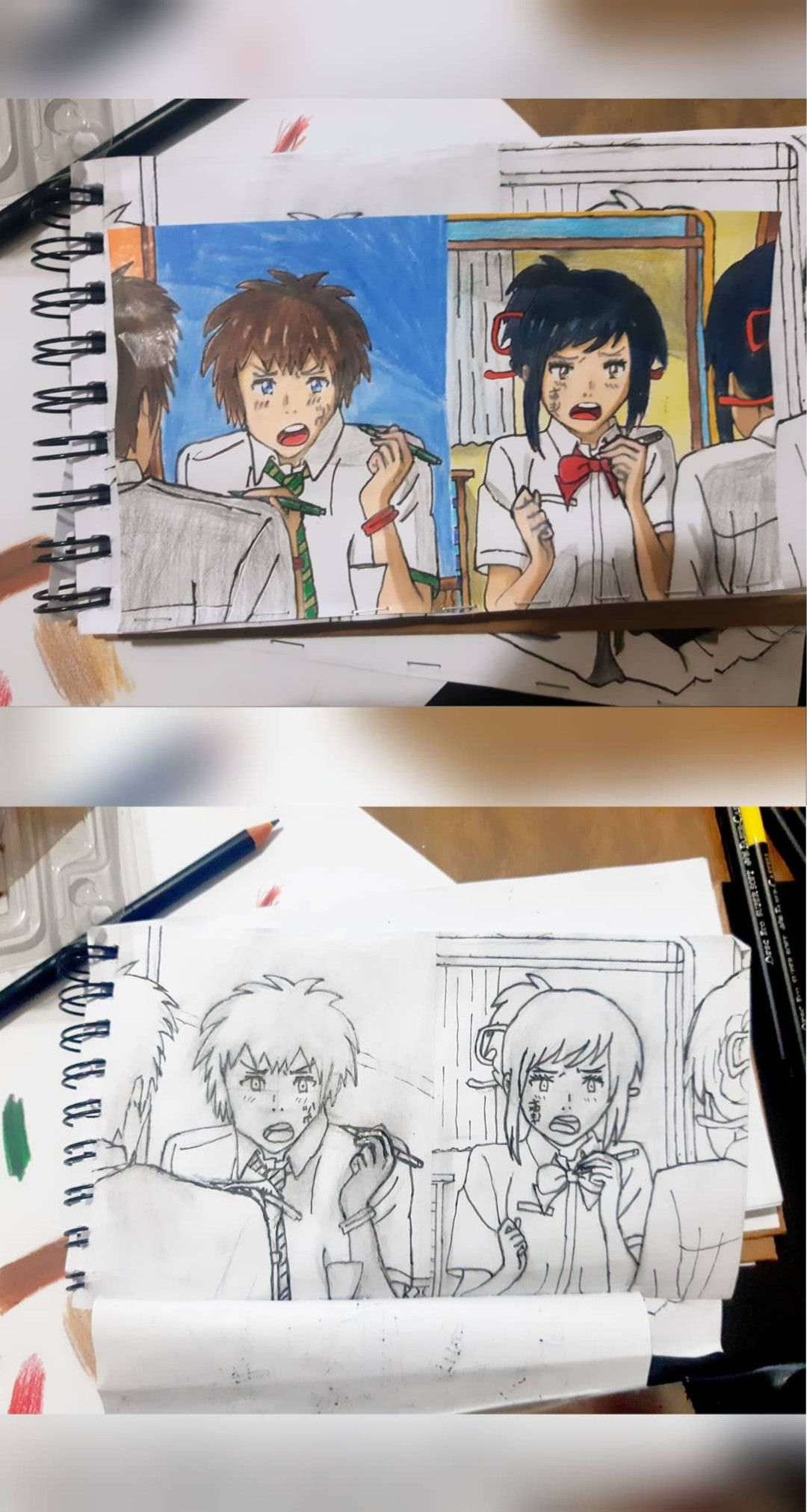 Your Name Netflix Sketch book, Arte, Fanart