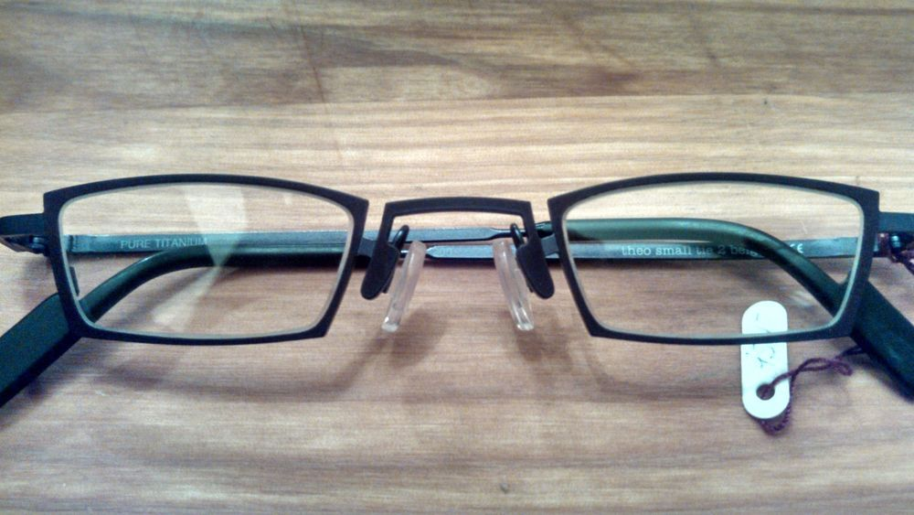5e9f49cb9d Theo Eyeglass Frames Authentic small tie 2 200 Mag Gray Vic Red Sh Pure  Titanium  theo