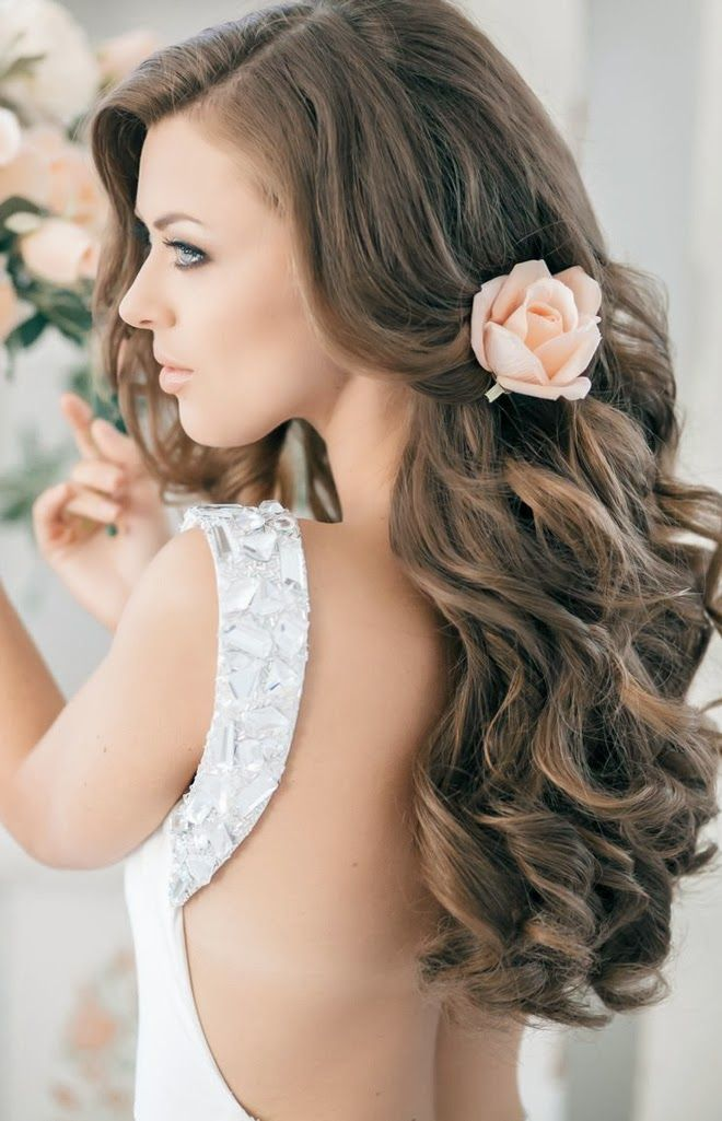 Long loose curls. Discover more gorgeous trends for bridal hair at i-do: http://www.i-do.com.au/wedding-tips/wedding-hair-makeup-beauty/?utm_source=pinterest&utm_medium=organic&utm_campaign=b_hair&utm_term=general&utm_content=general #loose #bride #stunning