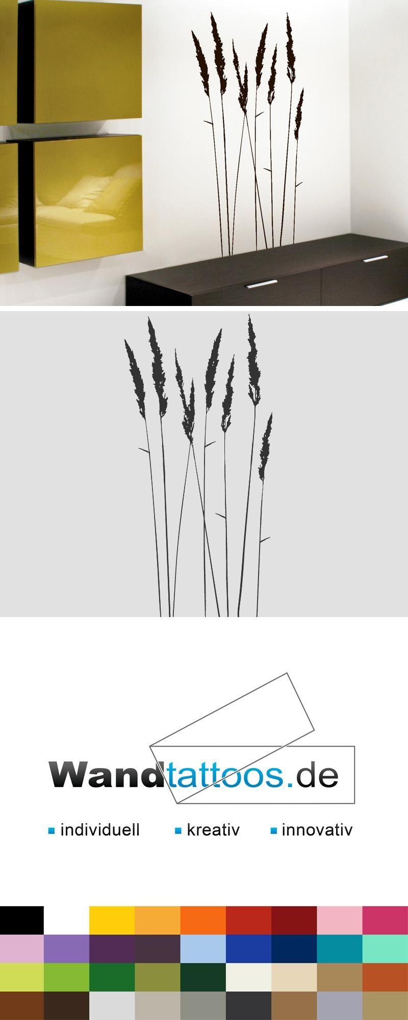 Wandtattoo Gräser als Idee zur individuellen Wandgestaltung. Einfach Lieblingsfarbe und Größe auswählen. Weitere kreative Anregungen von Wandtattoos.de hier entdecken!
