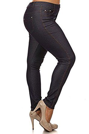 ee8334b994 $15.99 Plus Size Women's Solid Color Jeggings 68% Cotton, 27% Polyester, 5%  Spandex Imported Basic 5 pocket colored jeggings Stretchable and  comfortable ...