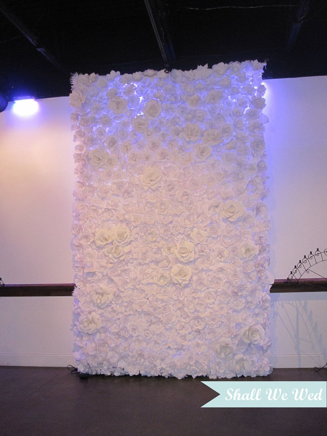 Amazing Endless Handmade Paper Flower Wedding Backdrop Would Be Gorgeous For Ceremony Backdrop