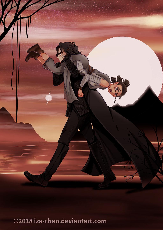 SW: Kylo Ren and Rey of Jakku by iza-chan on DeviantArt