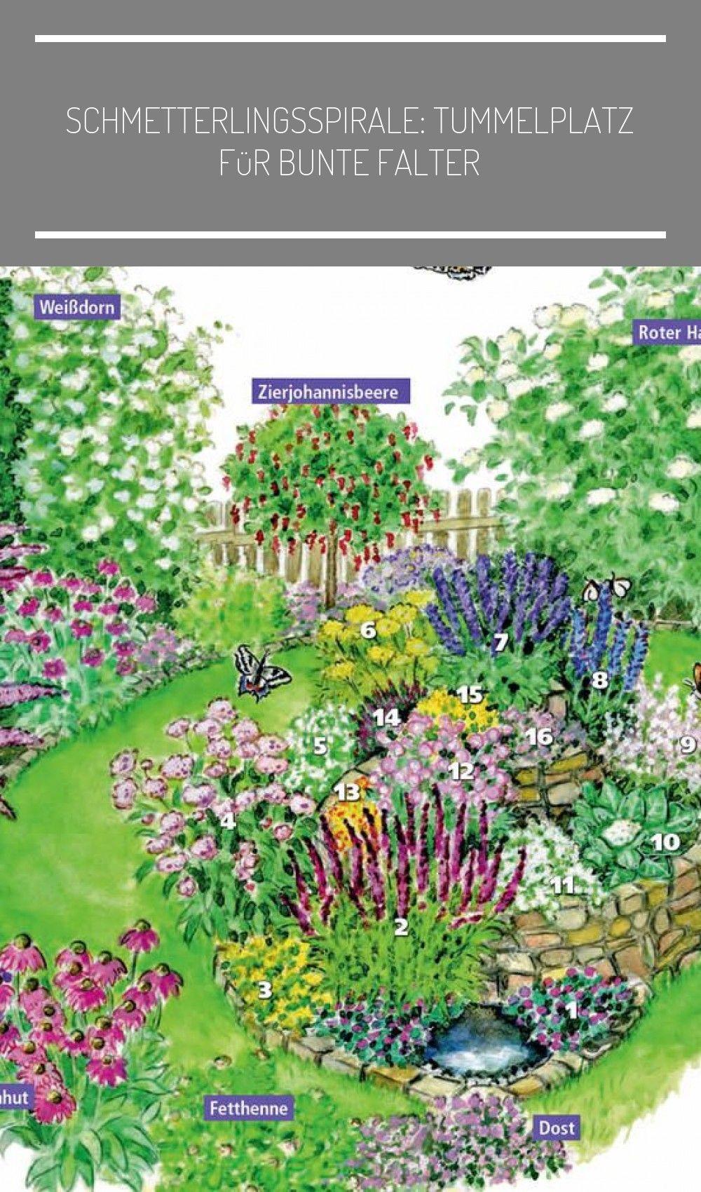 Als Garantierter Blickfang Im Garten Bietet Eine Schmetterlingsspirale Wie Sie Vom Nabu Schmetterl In 2020 Outdoor Gardens Treble Crochet Stitch Hair Removal Remedies