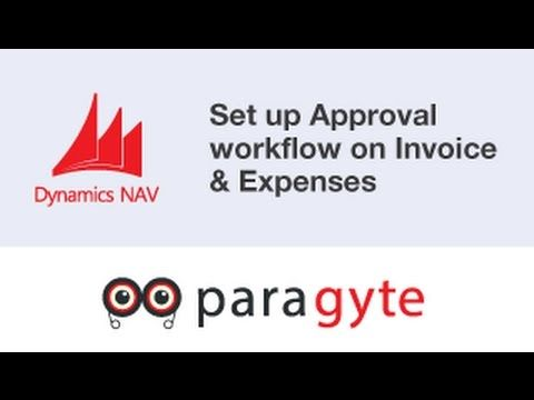 How to setup an approval workflow on invoice, expenses
