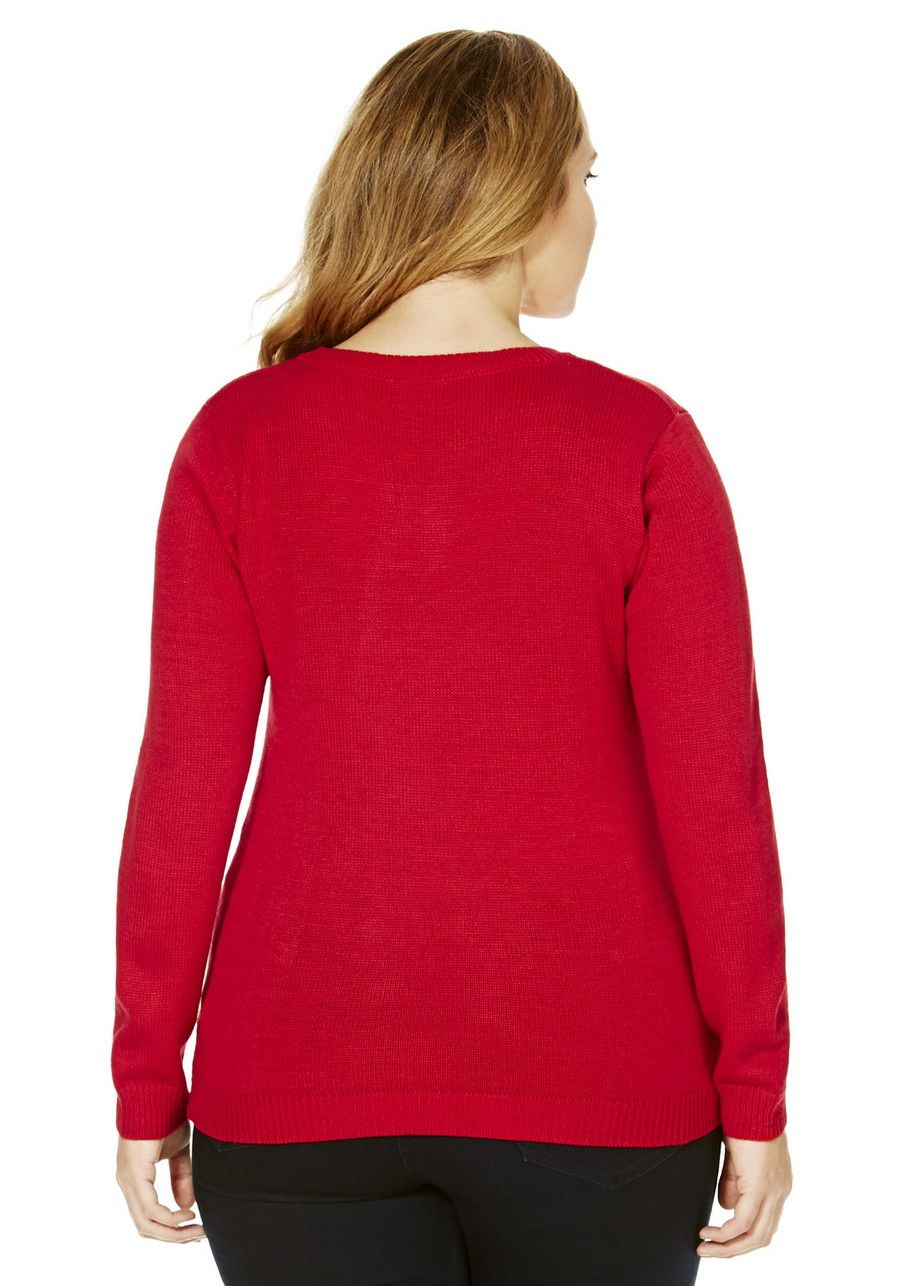Clothing at Tesco | F&F True Christmas Tree Plus Size Jumper ...