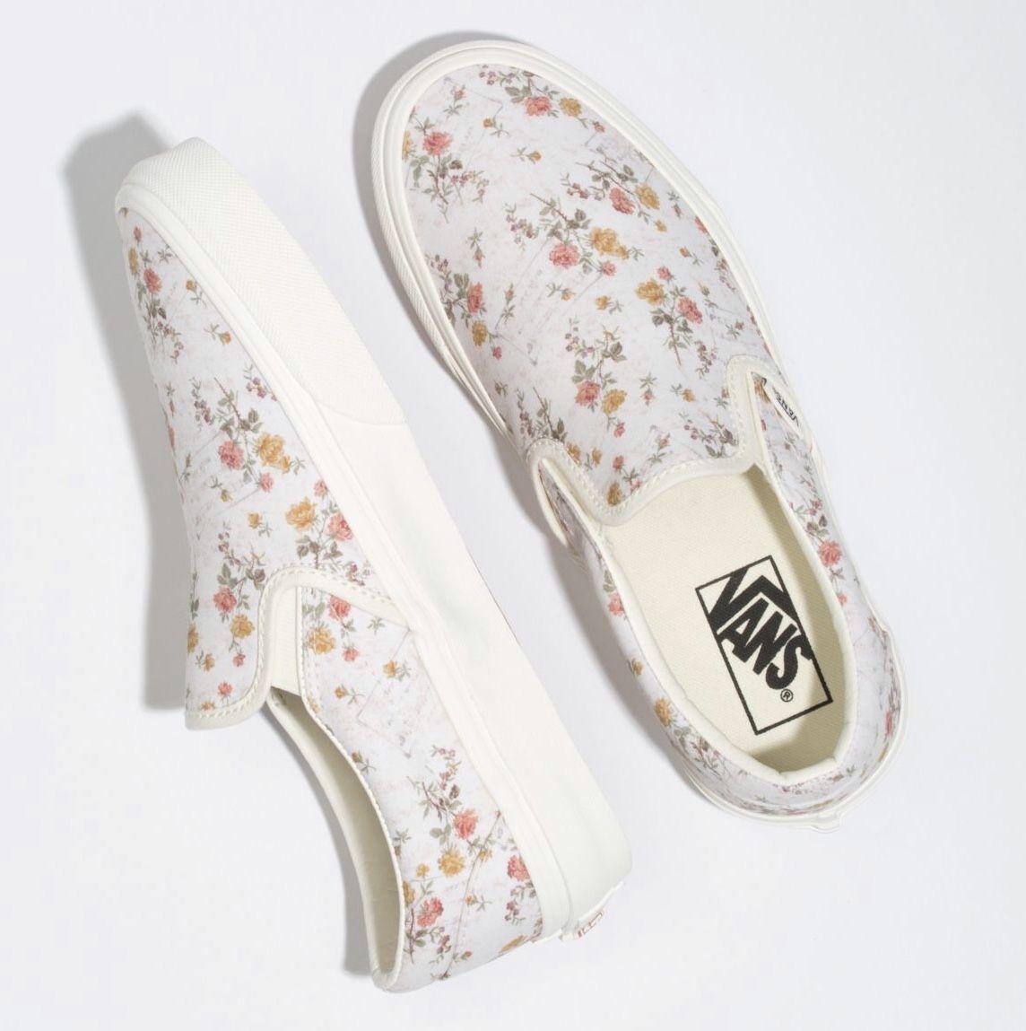 Vans Slip on - Floral/Marshmallow 2019
