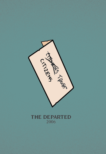 The Departed (2006) ~ Minimal Movie Poster by David Moscati ~ Scorsese Series #amusementphile