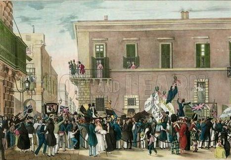 Vintage Welcoming Celebrations Of The Royal Commission In Malta 26 10 1836 Malta Valletta Malta Valletta