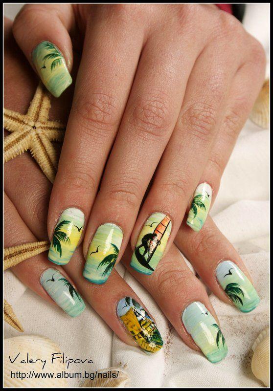 nails valery filipova beach