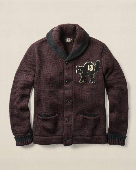 Cotton-Wool Shawl Cardigan - $495.00 RRL See All - RalphLauren.com ...