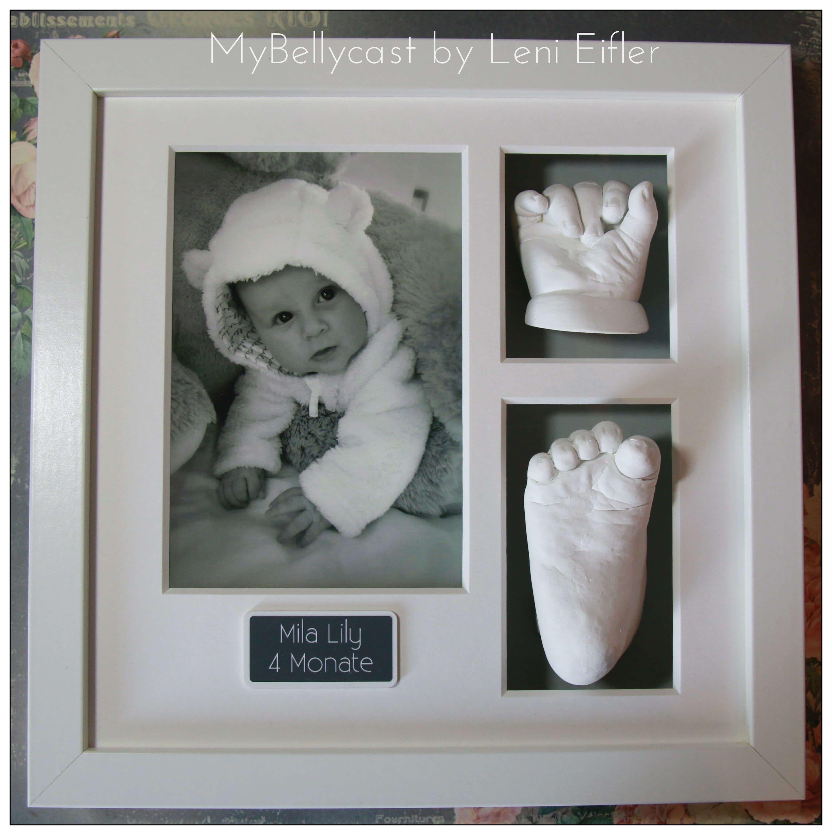 Baby Fotorahmen 3D Bilderrahmen für Handabdruck Fußabdruck