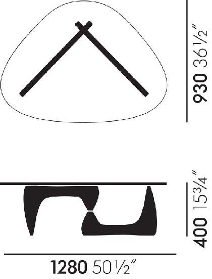 Noguchi Coffee Table Dimensions Google Search