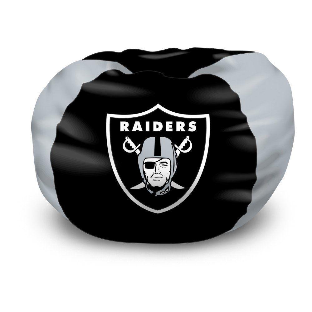 NFL Bean Bag Chair, Oakland Raiders Bedroom Football FREE SHIPPING