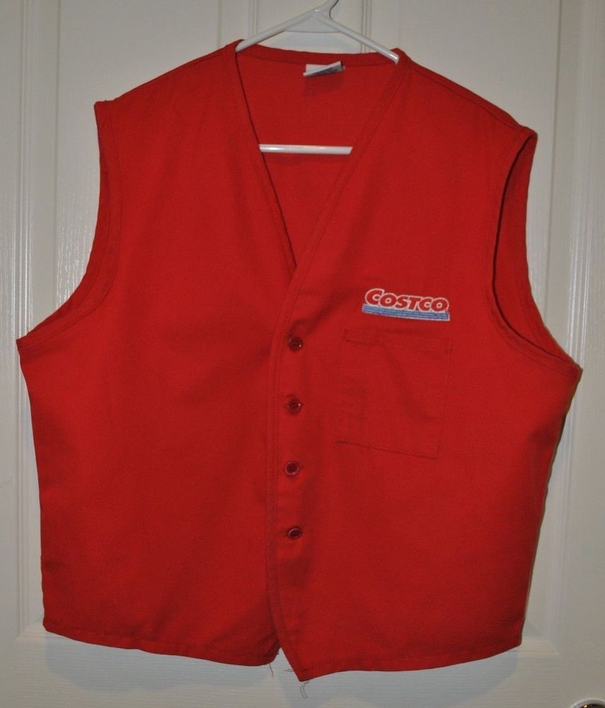 Costco Wholesale Employee Uniform Red Vest Size XL  DayStarApparel  Vest 839a01d5ed1