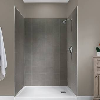 """Jetcoat™ 78"""" x 42"""" x 42"""" Two Panel Neo-Angle Shower Wall ..."""