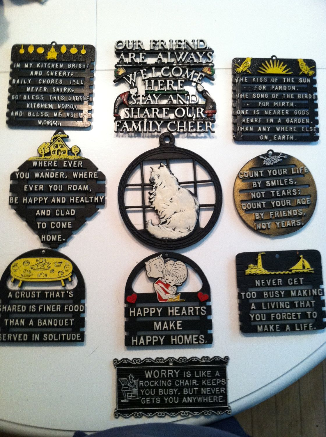 Wonderful Grouping Of Vintage Iron Trivets Buy One Or As A Set