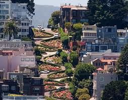 Lombard Street in San Francisco measures a quarter long. The speed limit is only five mph. The street is well-known for having a steep, one-block section. On two sides of the street are most expensive mansions, town houses, and condominiums. Lombard Street is best known for the one-way section on Russian Hill between Hyde and Leavenworth Streets, in which the roadway has eight sharp turns that have earned the street the distinction of being one of the most crookedest street in the world.